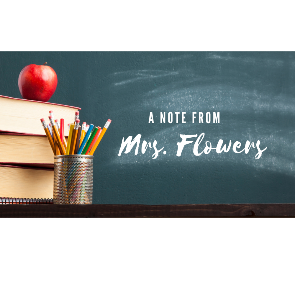 A report card update from Mrs. Flowers