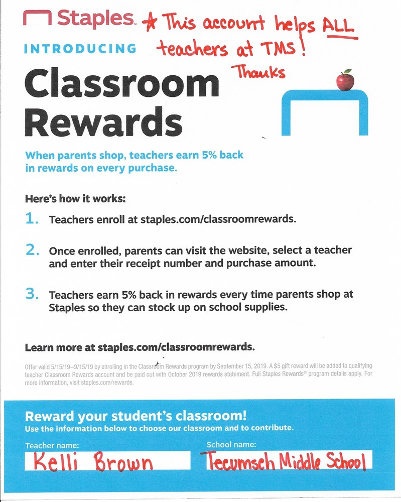 Classroom rewards program in full swing