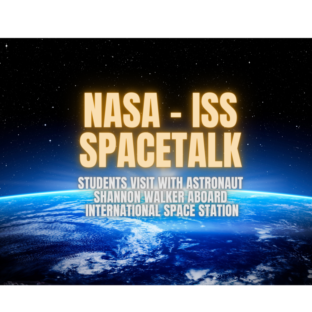 Students talk with astronaut aboard the International Space Station