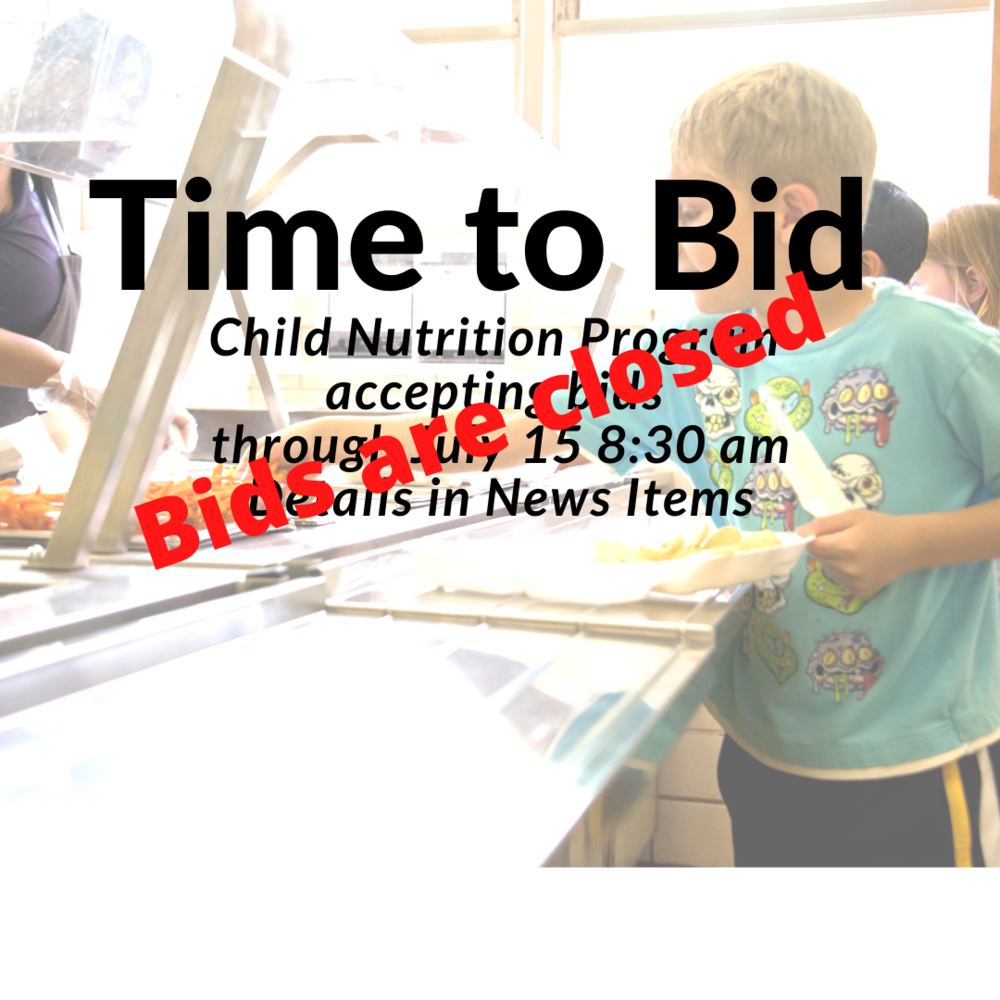 TPS Child Nutrition sealed bids being accepted