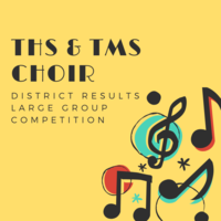 Choir department finishes strong at district competition