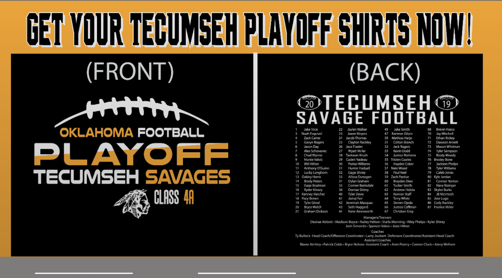 Football playoff shirt
